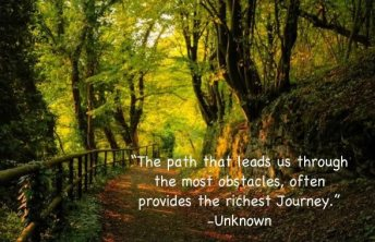 obstacles and journeys
